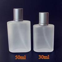 mattglas spray großhandel-1PC Frosted 30ml 50ml Glas Leer Parfümflaschen-Spray-Zerstäuber nachfüllbar Scent Fall mit der Reise-Größe Flasche Tragbarer