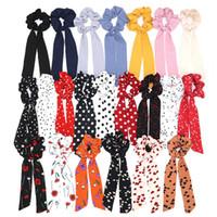 nokta aksesuarları toptan satış-Moda Dalga Noktası Baskı Scrunchie Kadınlar Saç Eşarp Elastik Hairband Yay Saç Kauçuk Halatlar Kızlar Saç Kravatlar Aksesuarları RRA1946