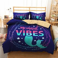 Wholesale 3d bedding set resale online - A Bedding Set D Printed Duvet Cover Bed Set Sea Mermaid Home Textiles for Adults Bedclothes with Pillowcase MRY35