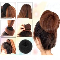 Wholesale bun shaper for sale - Group buy 1 pc Fashion Women Lady Magic Shaper Donut Hair Ring Bun braiders Accessories Styling Tool Professional woman hair tool S M L