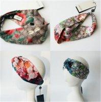 ingrosso gs stella-Designer 100% seta croce fascia moda lusso G elastico stella Hairband per le donne ragazza retrò turbante headwraps regali