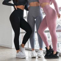 Wholesale sexy yoga pants full for sale - Group buy Female Knitted Exercise Tights Apparel Multicolors Full Length Elastic Waist Yoga Pant Female Sexy Leggings Apparel ys E19