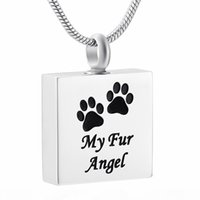 Wholesale names for pets for sale - Group buy IJD9359 Highly Polished Square Pet Human Name Engraved Urn Pendant for Ashes Memorial Funeral Casket ID Pendant Necklace Ashes Jewelry