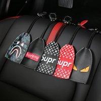 araba anahtarları için deri çantalar toptan satış-Araba malzemeleri anahtar çanta SUP gelgit marka Hakiki Deri anahtar seti araba anahtarı koruyucu kılıf Fit tüm model