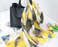 Wholesale silk beach towel resale online - Luxury spring silk shawl classic silk scarf women s soft lightweight silk scarf beach towel