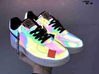 nuevos zapatos de corte alto al por mayor-2019 nuevo Luminiscencia Jelly Forces Hombres Mujeres Low Cut One 1 aire Dunk Forced 1s Calzado deportivo Zapatillas de deporte clásicas de AF Fly Zapatillas de deporte de punto alto