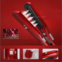 Wholesale nano wands for sale - Group buy Professional Electric Flat Hair Steamer Straightener Iron Ceramic Hairstyler Nano Water Steam Care Styler Straighter Wand Salon
