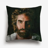 Wholesale bedroom painting portraits for sale - Group buy Heaven Is for REAL Jesus Cushion Covers Retro Oil Painting Jesus Portrait Art Cushion Cover Bedroom Sofa Decorative Linen Cotton Pillow Case