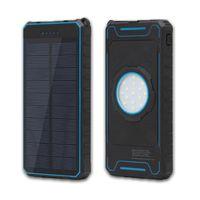 usb pil banka ücretli telefon toptan satış-Güneş Powerbank Çift USB Şarj 20000 mAh Güç Bankası Harici Akü Şarj Cihazı Evrensel Poverbank Telefon