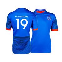 camisetas de rugby personalizados al por mayor-2019 Japón SAMOA RUGBY HOME JERSEY tamaño S-5XL Imprimir nombres y números personalizados Envío gratuito de alta calidad