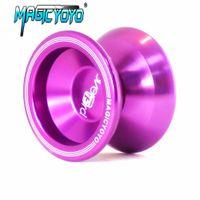 Wholesale magic yoyo resale online - High Quality Magic YOYO T5 Metal Professional Yo Yo Balls Upgraded Version Alloy Aluminum yo yo Toy Gift For Children SH190913