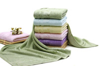 algodão de bambu da fábrica venda por atacado-6 toalhas de banho 100% absorventes macias do absorvente 70 * 140cm de toalha de banho do algodão de Colocs toalhas de banho anti-bacterianas naturais macias para adultos