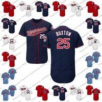 beyzbol formaları minnesota toptan satış-2019 Minnesota Beyzbol Forması İkizler Herhangi Bir İsim Numarası 25 Byron Buxton 16 Jonathan Schoop 24 C.J.