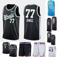 2536665e Discount all star basketball jerseys - All 77 DONCIC 41 NOWITZKI Star 43  Siakam 12 Adams