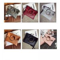 Wholesale hasp ring resale online - Women Foldable Composite Bag Round Ring Handle Handbags Leather Fashion Causal Shoulder Handbag Tote Messenger LJJW147