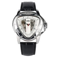 треугольные часы оптовых-Winner Series Mechanical Watch Automatic-self-winding Watch Special Triangle Case Commerce Style Male Timepieces Clock