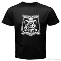 заводская розетка c оптовых-WKRP In Factory Outlet Death Beer Джонни Фивер мужская черная футболка с размером S-3XL Футболка Мужская классная с коротким рукавом Crewneck Хлопок XXXL C