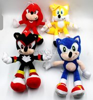 Wholesale hedgehog toys stuffed animals resale online - Kids Sonic Toy Arrival Sonic the hedgehog Sonic Tails Knuckles the Echidna Stuffed animals Plush Toys With Tag quot cm Free Shippng