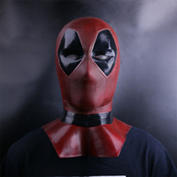 Wholesale deadpool costume accessories online - Cheap Accessories Deadpool Masks Cosplay Costume Props Superhero Movie Full Face Halloween Mask Costume Accessories