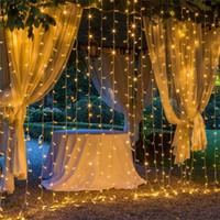 weihnachten twinkle vorhang led lichter großhandel-10M x 3M LED Funkeln, das 1000 LED Weihnachtsschnur-feenhafte Hochzeits-Vorhanghintergrund im Freien Partei-Weihnachtslichter 9 Farben-Wahl 110V 220V beleuchtet