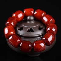 yak schmuck großhandel-Natürliche Yak Horn Barrel Perlen Armband voller Blut geile Perlen Perlen Ring Schmuck Horn Armbänder