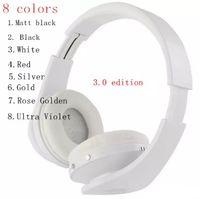 Hot selling High Quality 3.0 wireless headphones headband over ear headsets bluetooth 8 colors matt black rose golden by dhl