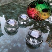 luces de piscina flotante al aire libre al por mayor-Jardín Al aire libre Impermeable Colgando Bola Luz Piscina Estanque cambiando de color Decoración de la piscina Luz Led Lámpara flotante solar