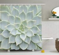 sexy americanas pretas venda por atacado-Arte de planta natural quente mexicana da cortina de chuveiro da decoração do cacto, decoração da tela do banheiro ajustada com ganchos