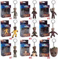 funko pop guardians galaxy venda por atacado-Guardiões da galáxia Groot Thanos Figuras de ação Dolls Treeman Action Figure Toy funko POP Treeman modelo boneca brinquedo chaveiro