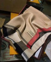 ponchos de cachemira al por mayor-Bufanda de cachemira de invierno Pashmina para las mujeres de alta calidad para hombre bufanda a cuadros caliente moda mujer imitar bufandas de lana de cachemira 70x200 cm