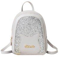Wholesale pu backpack purses preppy resale online - Lady Shoulders Small Backpack Pu Leather Student Backpack Preppy Fashion Bag Letter Purse Mobile Phone Messenger Bag LR1