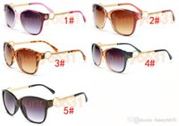 pc için sürücü toptan satış-YAZ kadın metal gözlük Lüks Yetişkin Güneş Gözlüğü bayanlar Marka Tasarımcısı moda Siyah Gözlük kızlar sürüş Güneş Gözlükleri A + + ücretsiz shi