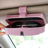 Wholesale yentl c Car Styling Universal Car Sun Visor Glasses Box Sunglasses Ticket Receipt Clip