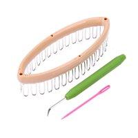 2pcs tricot triangulaire métier à tisser bricolage outils de tissage
