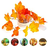 ingrosso piante artificiali hanno portato le luci-LED Maple Leaf Fairy Led Light Light 1.5M 3M 6M artificiale pianta Rattan Holiday Wedding Room illuminazione decorativa di Natale
