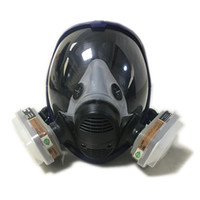 DHL Shipping new style 2 in 1 Function 6800 Full Face Respirator Silicone Full Face Gas Mask Facepiece Spraying Painting