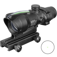 Wholesale fiber optic red dot resale online - Trijicon Hunting Scope ACOG X32 Tactical Red Dot Sight Real Green Fiber Optic Riflescope with Picatinny Rail