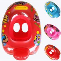color de agua del barco al por mayor-Los niños inflables nadan anillo asiento de agua boya animal natación barco productos acuáticos variedad de estilos colores mezcla 4 46lsf1