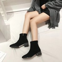 Wholesale metal tassel boots resale online - New super hot lady s Martin boots with metal riveting style double row belt buckles upper upper layer imported sheepskin my19090401