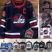 maillots de hockey d'héritage achat en gros de-Hommes Jets de Winnipeg 55 Mark Scheifele 2019 Heritage Classic Jersey 26 Blake Wheeler 29 Patrik Lainé 33 Dustin Byfuglien Hodkey Maillots pas cher