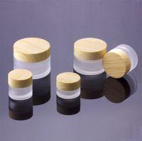 cream container оптовых-5 г 10 г 15 г 30 г 50 г косметические банки крем пустой макияж крем для лица многоразового использования контейнеры упаковка бутылка с бамбуковой крышкой