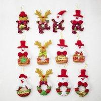 Wholesale bear christmas ornaments resale online - Christmas Ornaments Cute Santa Pendant Elk Bear Holiday Decorations for Home