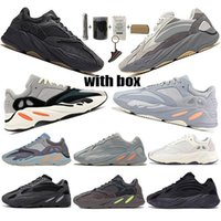 Wholesale newest shoes out resale online - 2020 Newest Kanye West Wave Runner Running Shoes Inertia s V2 Geode Static Sports Mauve Solid Grey Designers Sneakers Size