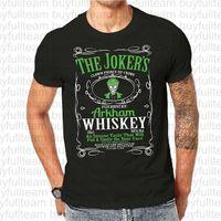 ingrosso mens del maglione del joker-Tema Joker Whisky Mens T Shirt Schermo nero stampato Tees Mens maniche corte nera Tops Moda girocollo T-shirt Taglia S M L XL 2XL 3XL