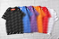 ingrosso camicia piena di marca superiore-Supre Letters Printed 2019 New Brand Fashion Designer di lusso da donna T-Shirt da uomo in cotone 100% Full Lettera Tops Unisex Magliette M-XXL C62708