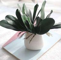 ingrosso foglia di orchidea-1 Pz Phalaenopsis foglia pianta artificiale foglia fiori decorativi materiale ausiliario decorazione floreale Foglie di orchidea