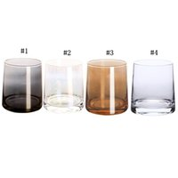 Wholesale modern wine glasses for sale - Group buy 9oz Crystal Cup Wine Glass Tumbler Modern Ion plated Rainbow Transparent Drinkware Household Living Room Crafts MMA1793