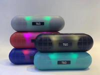 Wholesale music box flash player resale online - LED Flash Light BT Bluetooth Speaker W Stereo Subwoofers Outdoor Wireless Portable Loudspeaker Hifi Soundbox FM Radio TF Music Box TG148