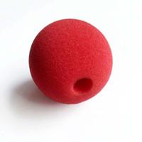 acessórios bola de natal venda por atacado-Red Ball Esponja Palhaço Nariz Vestido Mágico Acessórios para Decoração de Casamento Festa de Halloween Traje de Halloween