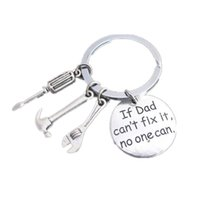 персонализированный брелок для ключей оптовых-Personalized Keychain Hand Carved with Fix Tools Keyring Love Keyring Stainless Steel Custom Key Chain